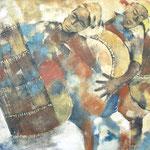 Musique noire -100x130 - Acrylique - 2009