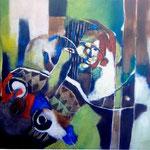 Cri d'un initié - 85,5x 65,5 - Acrylique - 2012 (VENDUE)