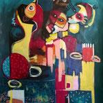 122 x 100 cm -  Acrylic , Mixed - 2021