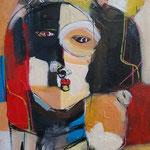 """"""" Sans titre """" 50 x 35 cm  - Acrylique , Mixte -2021"""
