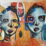 L'école pour tous - 72 cm x 38 cm - Acrylique , Mixte - 2018 (Vendu)