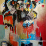 Pouvoirs -128 cm x 98 cm -Acrylique,Mixte - 2019