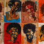 Série portraits afro - papier - 2015