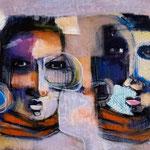 Les révoltes -128 cm x30 cm -Acrylique ,Mixte - 2019