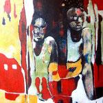 Pas de frontière - 65x80 - Acrylique - 2012 (VENDUE)