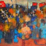 Les bonnets rouges - 132x55 - Acrylique - 2015