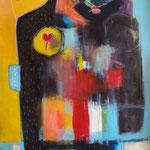 """"""" Communion 1 """"  148 x 67 cm - Acrylique , Mixte - 2020"""