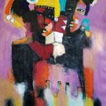 """"""" Sans titre """" 113 x 84 cm - Acrylique , Mixte-2020"""