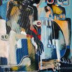 Les pieds des inconnus -130 cm x 96 cm - Acrylique , Mixte - 2018