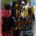 L'invitée - 57x84 - Acrylique - 2014