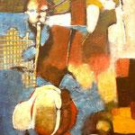 On a la liberté - 55x90 - Acrylique - 2011 (VENDUE)