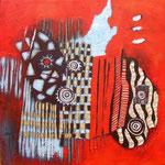 Nân tiè - 60x60 - Acrylique - 2011 (VENDUE)