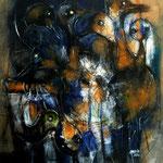 (I) migrateurs - 62x80 - Acrylique - 2014