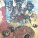 Les trois soeurs - 100x1300 - Acrylique - 2009