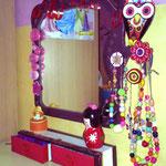 miroir et rangements accessoires