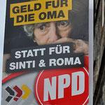 Plakat der NPD in der Nähe von Mulfingen, Foto: Manuel Werner