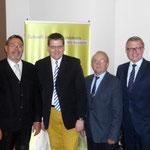 Das Bild zeigt von links nah rechts:   Martin Lohrie, Kai Abruszat, Joachim John, Frank Schäffler