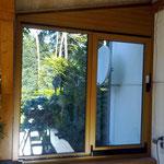 Schiebefenster aus Kunststoff Altes Lager