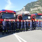 Kursteilnehmer der Feuerwehr Pizol und Walenstadt
