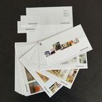 Geschäftsauftritt  |  Geschäftspapiere für Innenarchitekturbüro rheinkonzept – Briefbogen, Visitenkarten, Projekt-Booklet