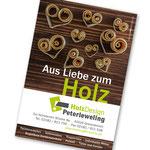 Aus Liebe zum Holz  |  Werbeanzeige für Holzdesign Peterleweling