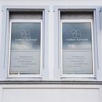 Fensterbeschriftung  |  Außenwerbung für Sozialpädagoge Volker Kühnel