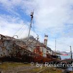 Schiffskran in Grytviken in Südgeorgien