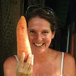 Karottensalat aus einer Karotte