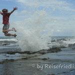 Blasloch an der Playa Pelada