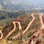 Strasse zum Krater von Managua