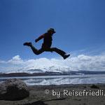 Beat über dem Vulkan Parinacota