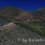 Auf dem Weg zum Abri del Acay