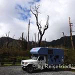 Übernachtungsplatz beim Vulkan Chaoten
