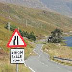 Einspurige Strassen mit Ausweichmöglichkeiten