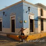 Hohe Trottoire in Campeche
