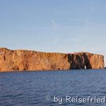 Fels bei Pérce auf der  Gaspé-Halbinsel