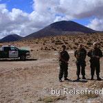 Polizei bei den heissen Quellen von Polloquere