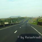 Leere Autobahnen als Folge des Streiks