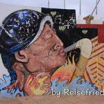 Wandbild in Tarabuco