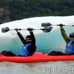 Kayaktour auf dem Gletschersee