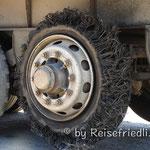 Reifenpanne eines LKW