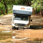 Erste Wasserdurchfahrt auf der Nicoya-Halbinsel