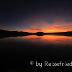 Sonnenuntergang auf der Lagunenroute