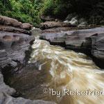 Die Verengung des Rio de Magdalena