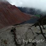 Auf dem Kraterrand des Vulkan Chaiten