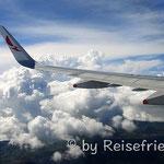 Über den Wolken auf dem Weg nach Südamerika