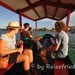 Bootsfahrt nach Flores