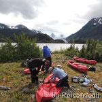 Vorbereitung für die Gletschertour
