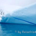 Muster in den Eisbergen