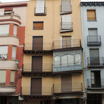 """""""schräge"""" Häuser in Catalayud"""